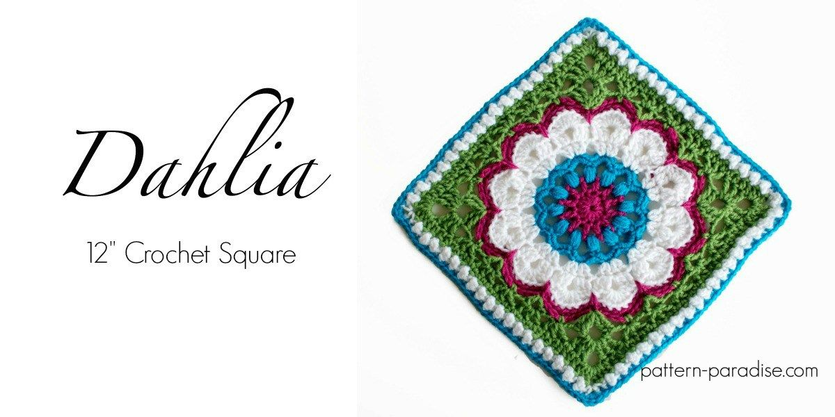 Free Crochet Pattern: Dahlia Afghan Square | Pinterest | Ganchillo