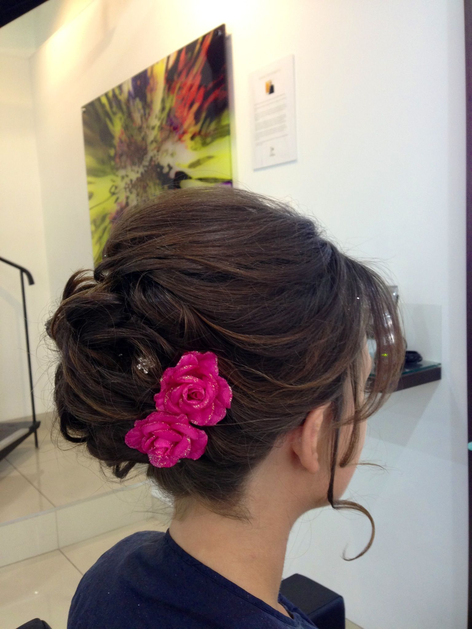 wedding guest x hairup x soft updo x brunette x work x | mrc