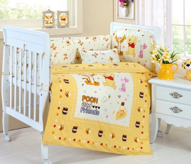 Yellow Nursery Bedding Plus Theme Winnie The Pooh Crib