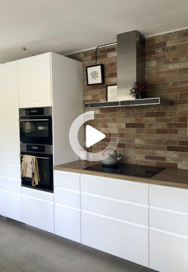 Meine neue Traumküche / IKEA Küche / Skandinavischer Style / weiße Küche / weiß mit Holz ...