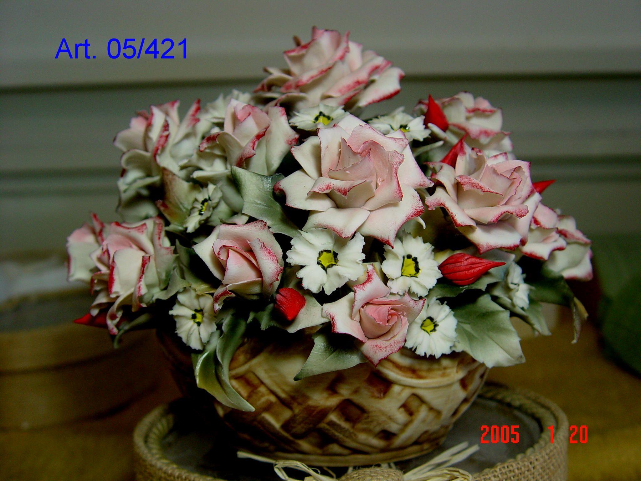 Centrotavola fiori porcellana Capodimonte.  0dbbcd9b7c3c