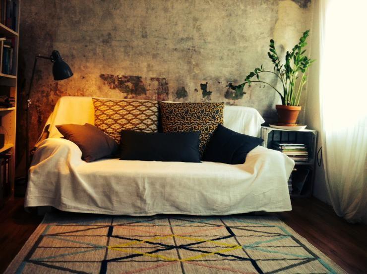 Gemütliches Sofa wohnzimmer einrichtung gemütliches sofa mit vielen kissen grüne