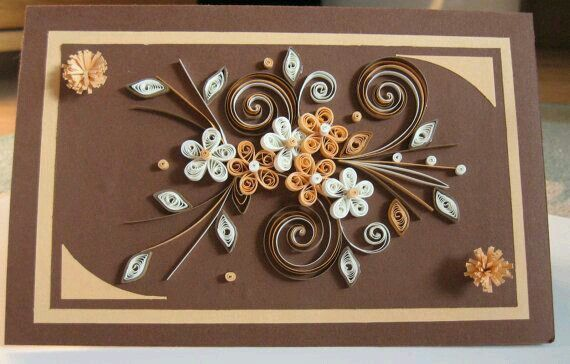 Father   day card paper handmade greeting for husband birthday  love you quilled brown beige xl size also best inspiring ideas images cards making rh pinterest