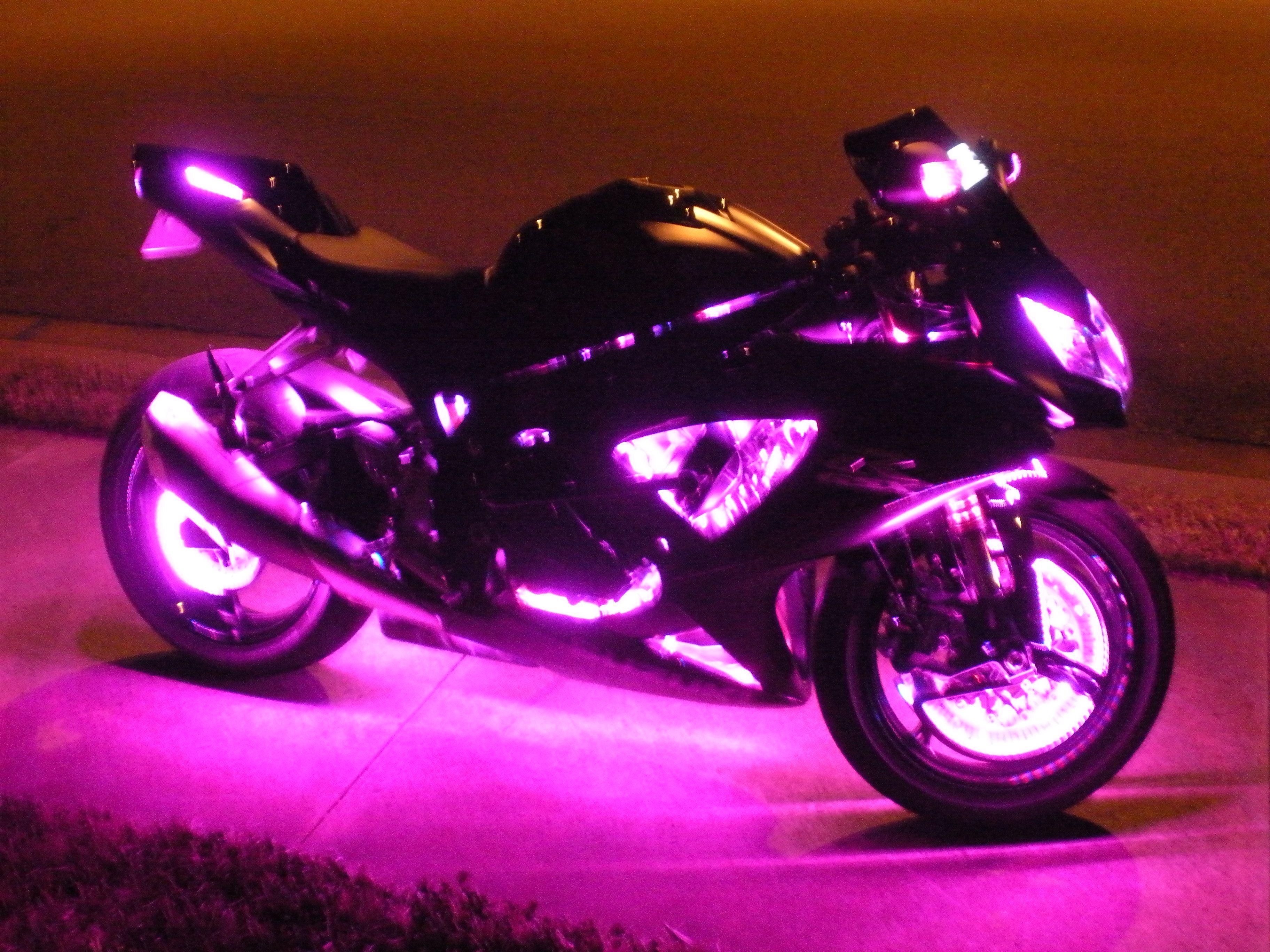 Purple Led Motorcycle Wheel Lights
