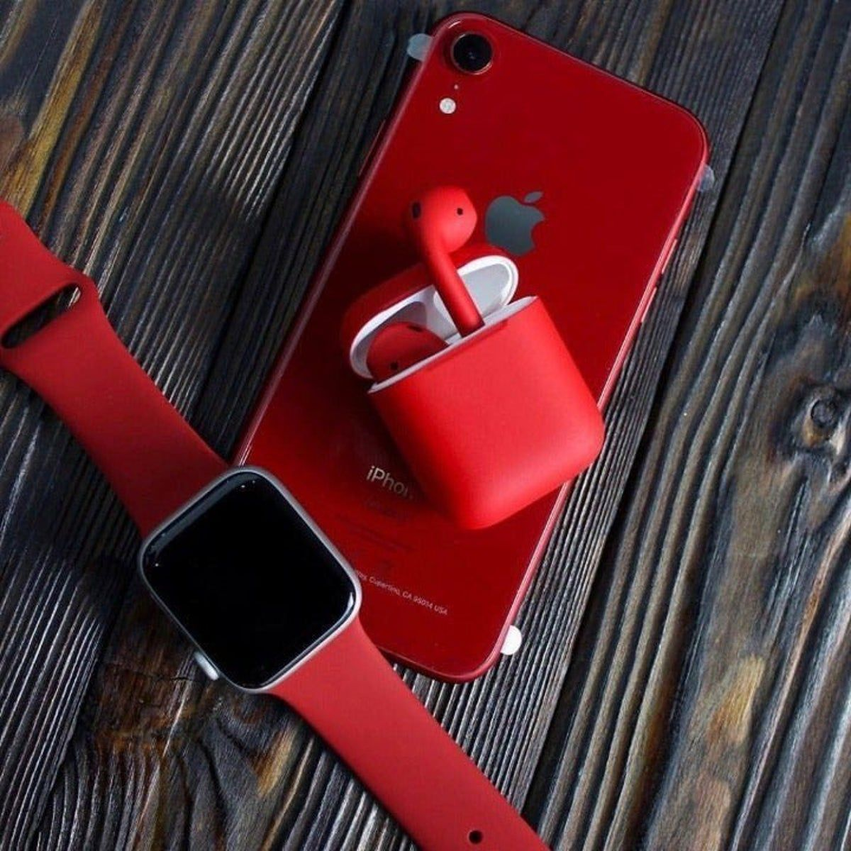 Apple Watch Band + Airpods Case In Red Продукты apple