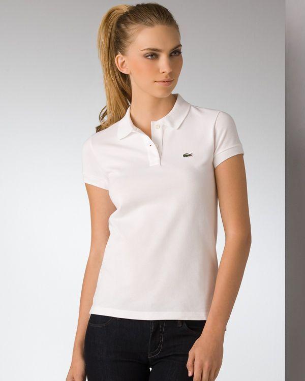 e291179a Lacoste Pique Polo | Men's/Women's Polo Shirts | White polo shirt ...