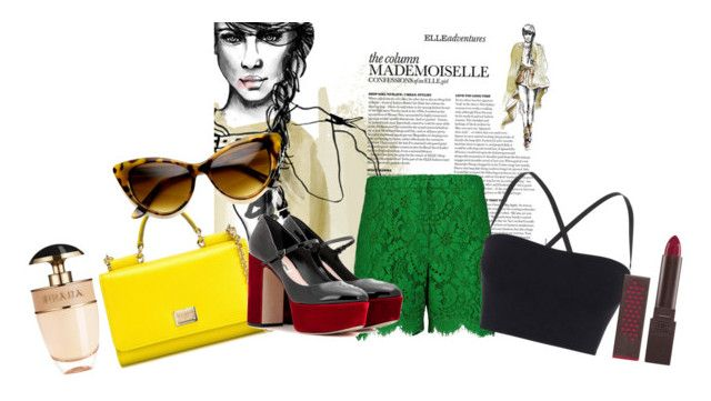 """Bez tytułu #63"" by marta81-1 ❤ liked on Polyvore featuring Dolce&Gabbana, Theory, Miu Miu, Prada and Burt's Bees"