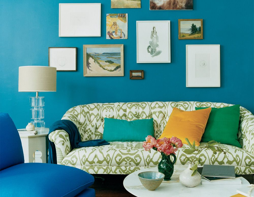 Decorating With Blue Domino Peacock Room Decor Blue Living Room Beautiful Room Designs #peacock #color #living #room #ideas