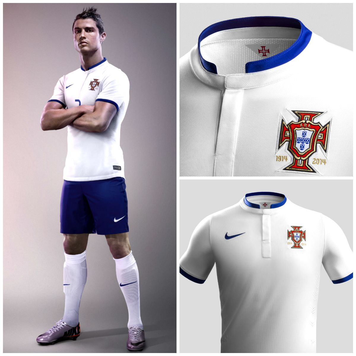 new styles f4a82 2a3ba Portugal 2014 Away Soccer Jersey looks great on ...