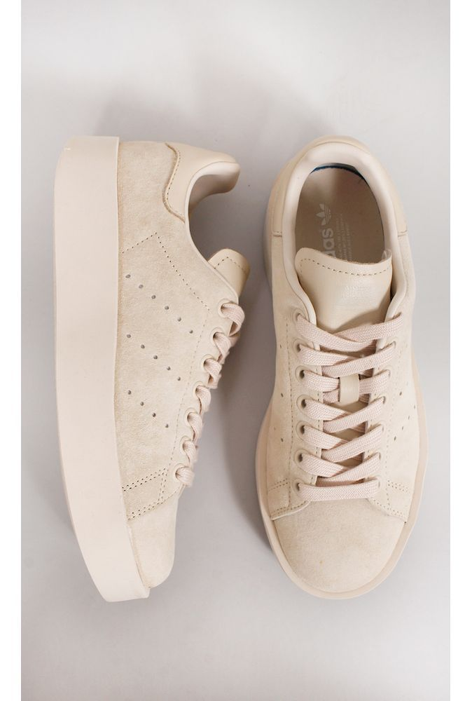 newest f1ad9 4c337 tênis adidas stan smith bold w nude - fashioncloset