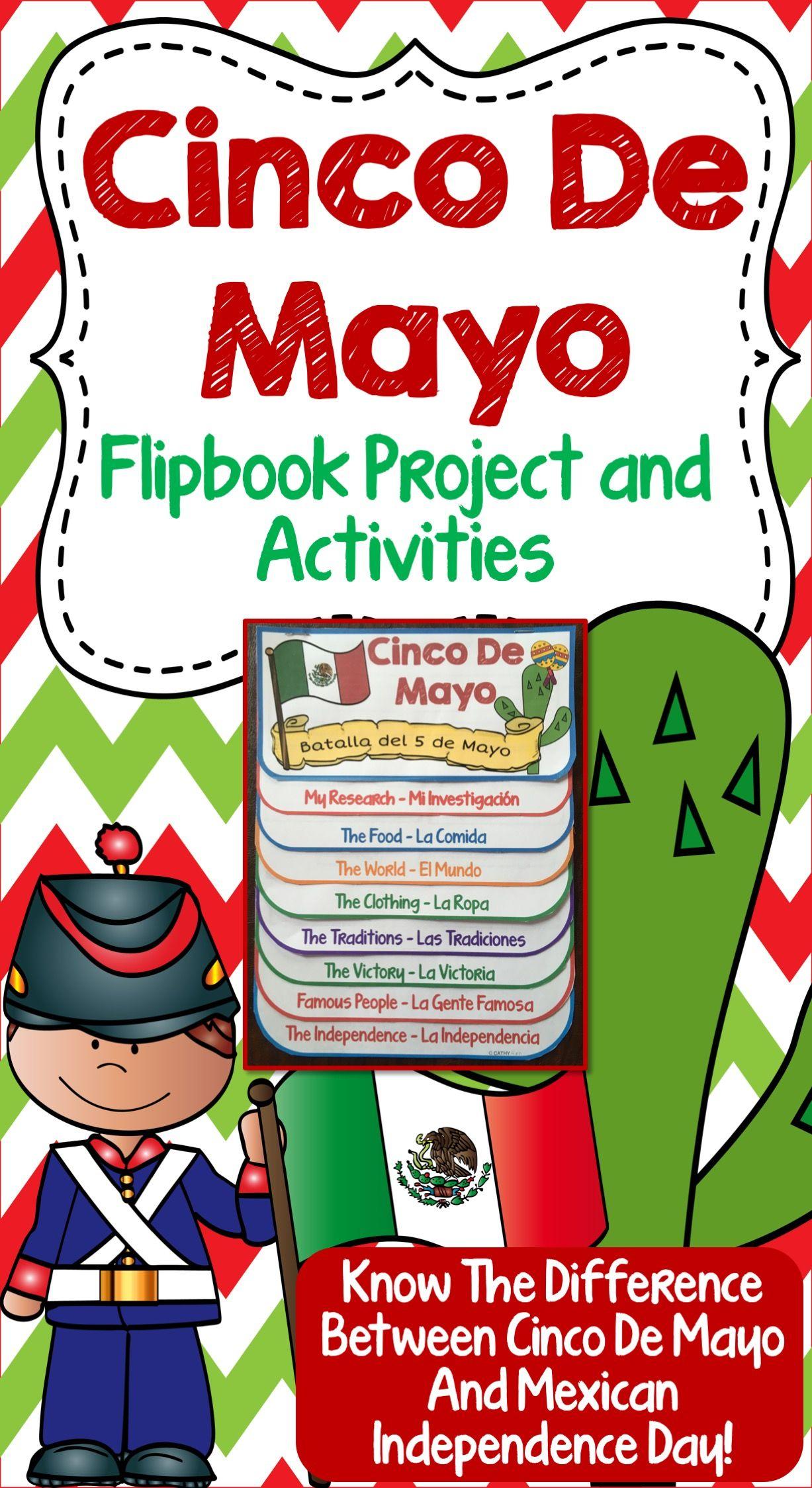 Cinco De Mayo Flip Book Research Project Activities Map