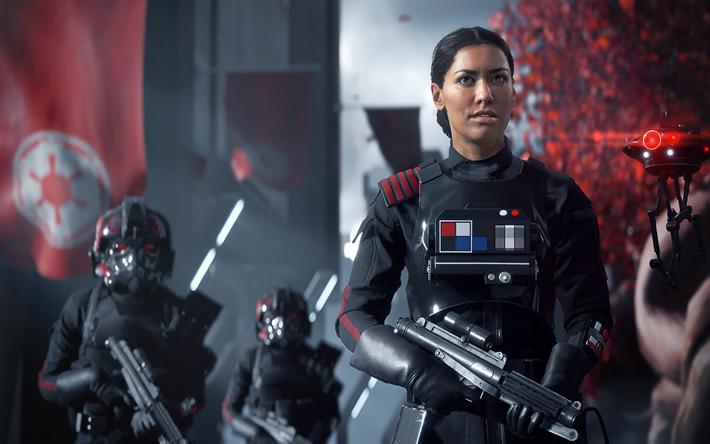 Descargar fondos de pantalla Star Wars Battlefront II, 2017, cyborgs, equipo nuevo juego, los personajes