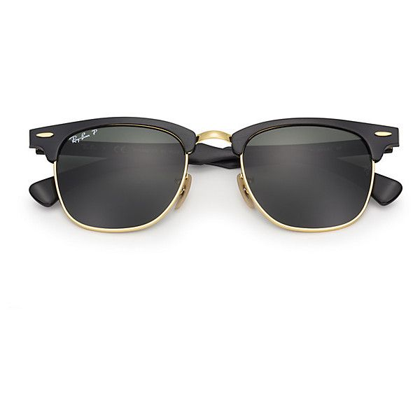 ed9d1ad918 Ray-Ban Clubmaster Aluminum Black Sunglasses