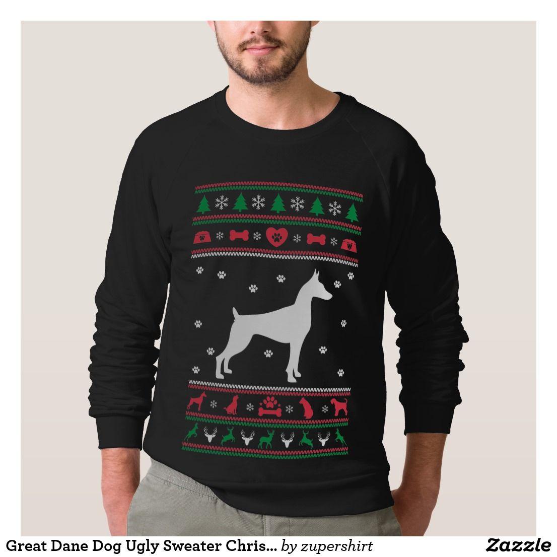 Great Dane Dog Ugly Sweater Christmas | Ugly Christmas Sweater ...