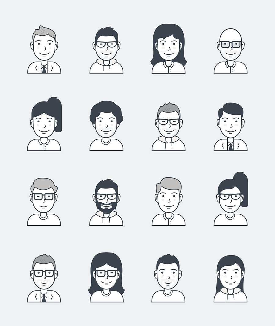 Free User Avatar Icons Free Design Resources Human Icon Person Icons Person Icon Set of 133 hand drawn mobs avatar icons. pinterest