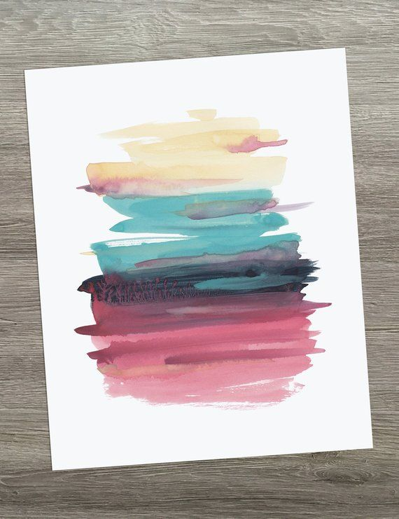 Abstract Watercolor Minimalist Art Abstract Art Print Modern