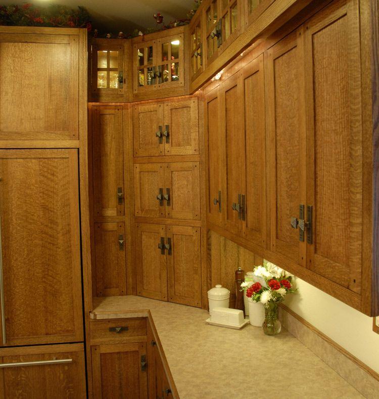 Craftsman Kitchen Oak Cabinets: Quarter Sawn Oak Cabinets Kitchen