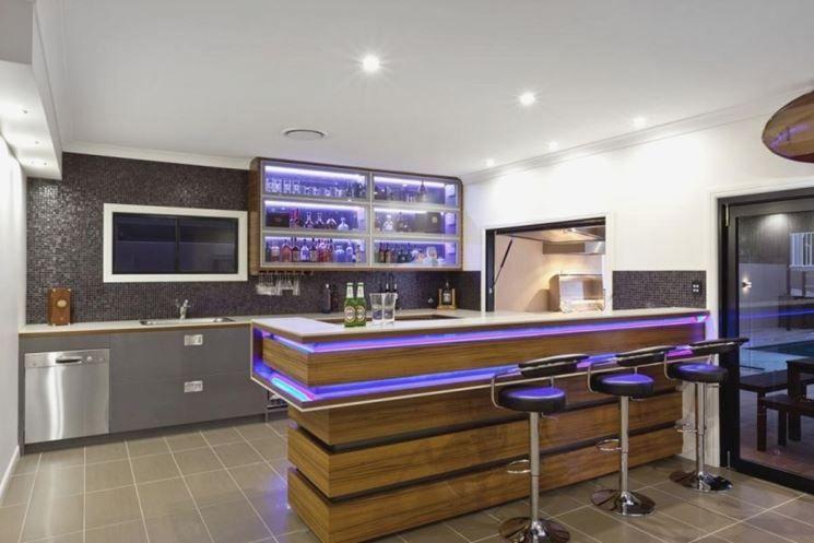 Un angolo bar moderno è la soluzione più adatta a chi ha questo stile in tutta la sua casa. Angolo Bar Tendenze Casa Progettazione Di Una Cucina Moderna Modello Di Cucina Contemporanea Bar In Casa