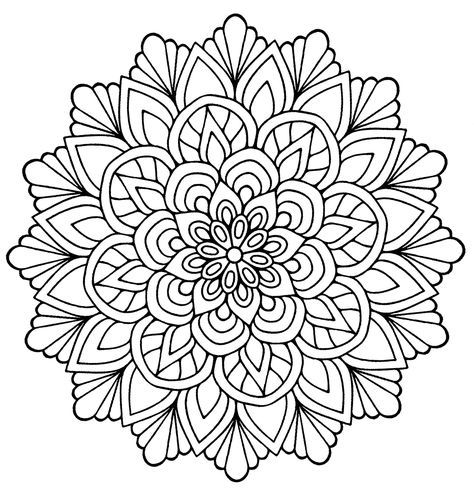 Cute Mandala Flowers Leaves From The Gallery Mandalas Flower Coloring Pages Mandala Coloring Mandala Coloring Books