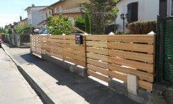 Jardin Design Cloture Bois Meleze 2 250x150 Jardin Design Luxury House Designs Luxury Homes Modern Fence