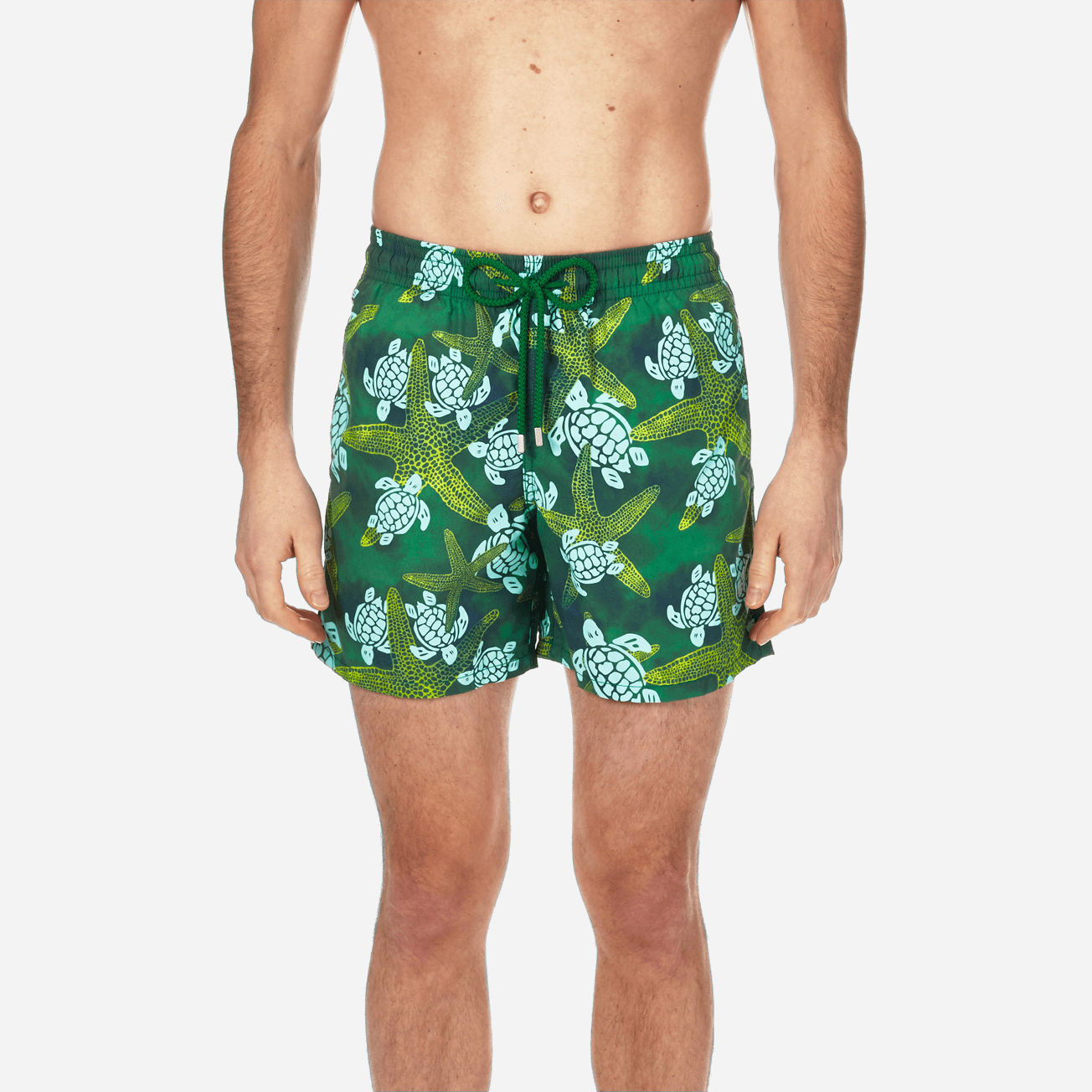 f0243e5ac5 Men Classic / Moorea Printed Swimtrunks Vintage Starlettes & Turtles in  Malachite green