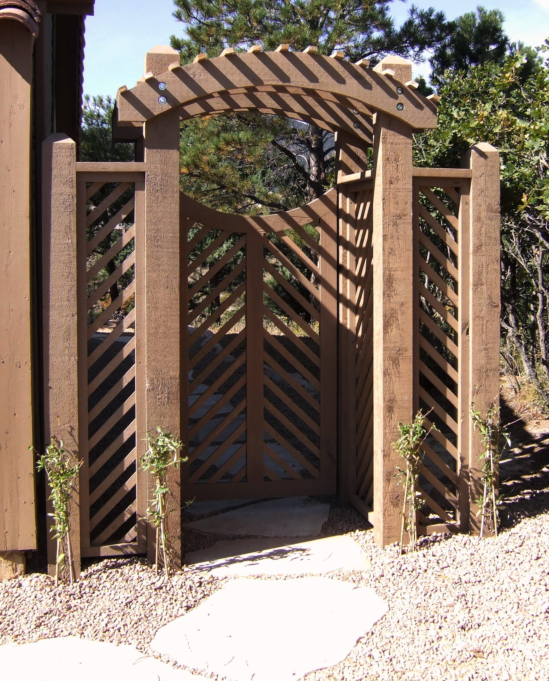 Arbor Over Gate Ideas: Arbor Gate Pergola Ideas Photograph