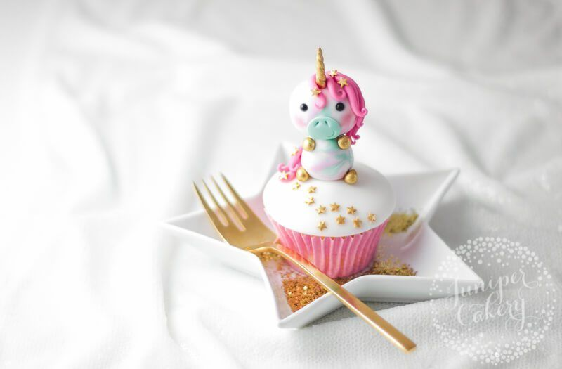 Utterly Adorable Fondant Unicorn Cupcake Topper Tutorial - Cupcake topper tutorial, Unicorn cupcakes toppers, Unicorn cupcakes, Cupcake cakes, Savoury cake, Cake - Add a little touch of magic to your next party and try out our fondant unicorn cupcake topper tutorial! A cute unicorn    what's not to love