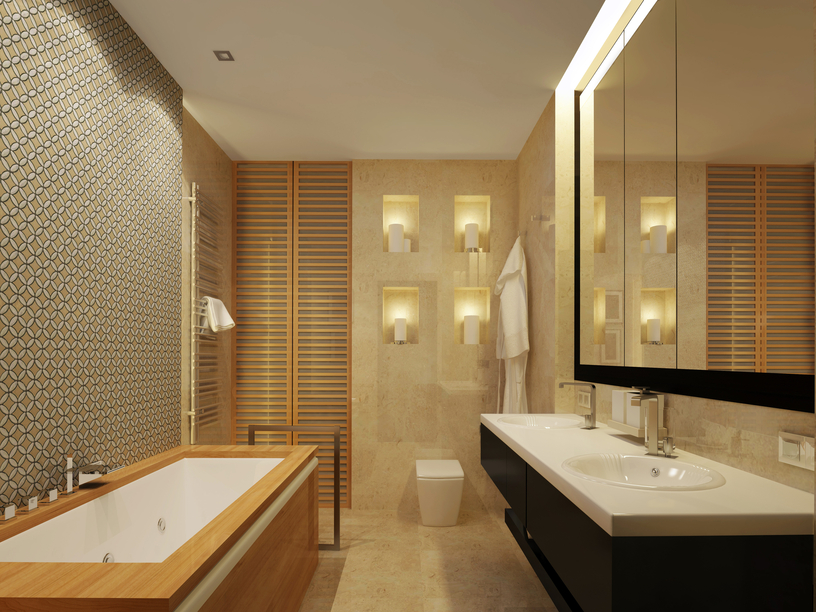Beige And Black Bathroom Google Search In 2020 Beige Bathroom Master Bathroom Design Bathroom White Sink