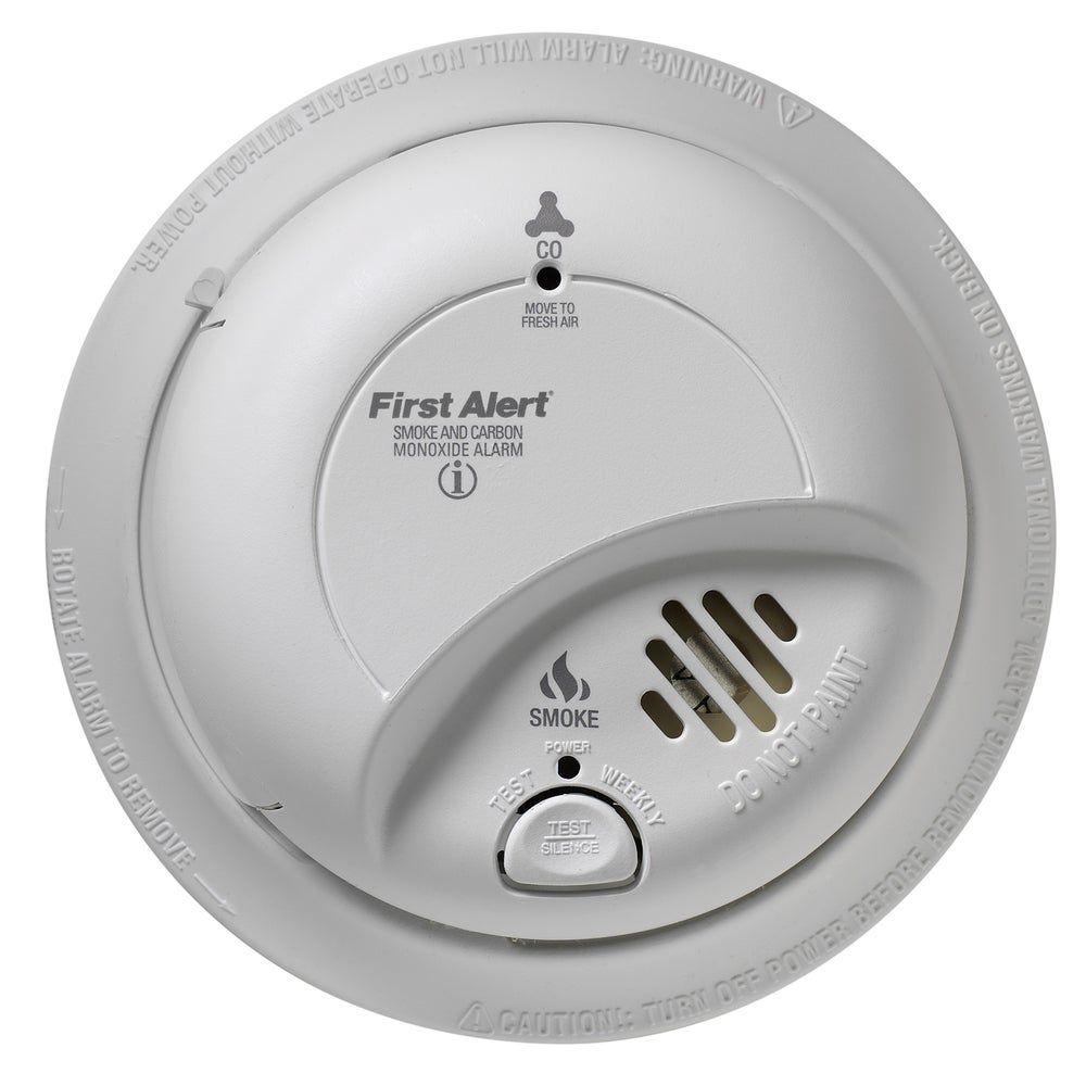 First Alert 120 Volt Smoke Carbon Monoxide Alarm With Battery Backup N A N A Alarm Black In 2020 Carbon Monoxide Alarms Home Security Alarm System Smoke Alarms