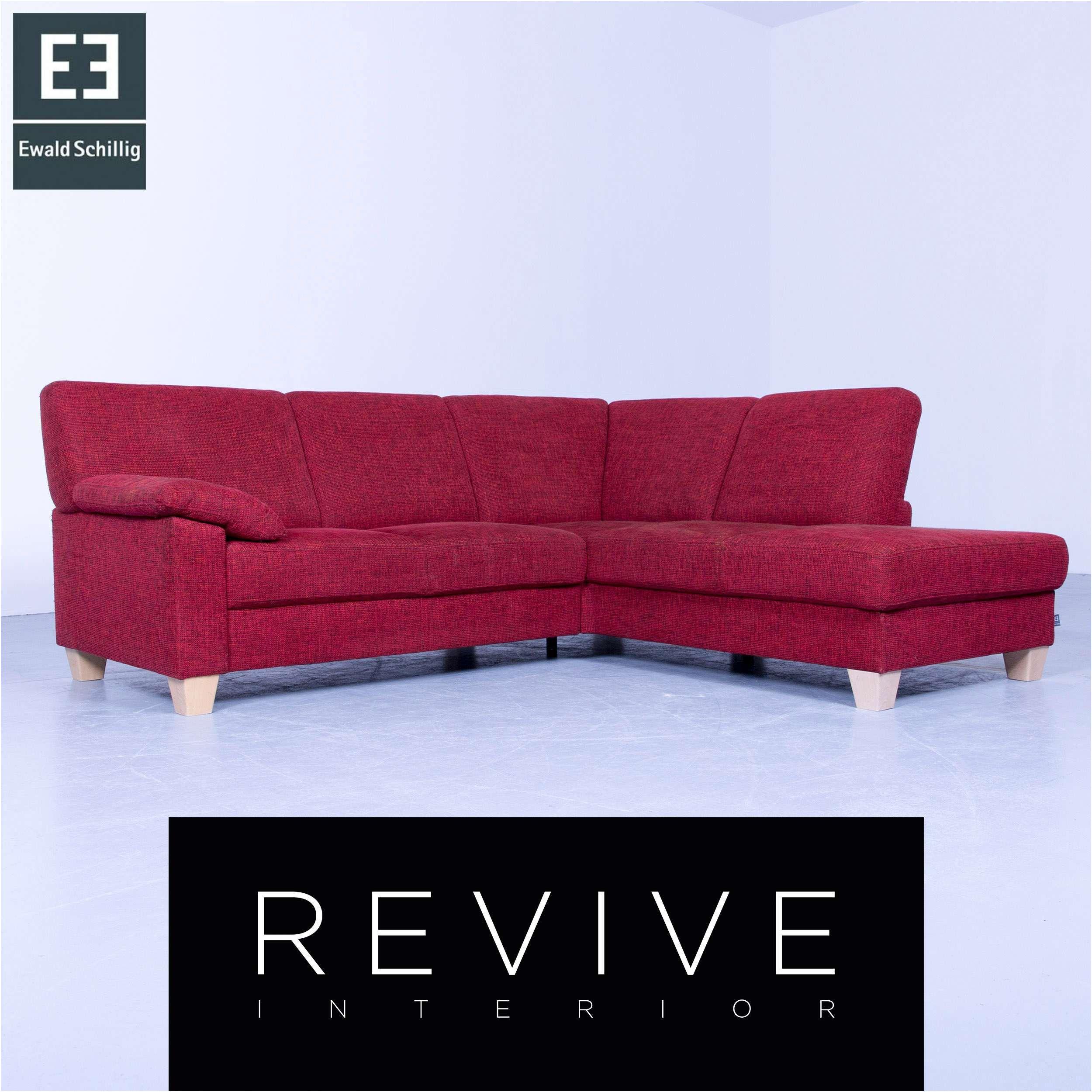 Ewald Schillig Designer Eck Sofa Rot Struktur Stoff Couch ...