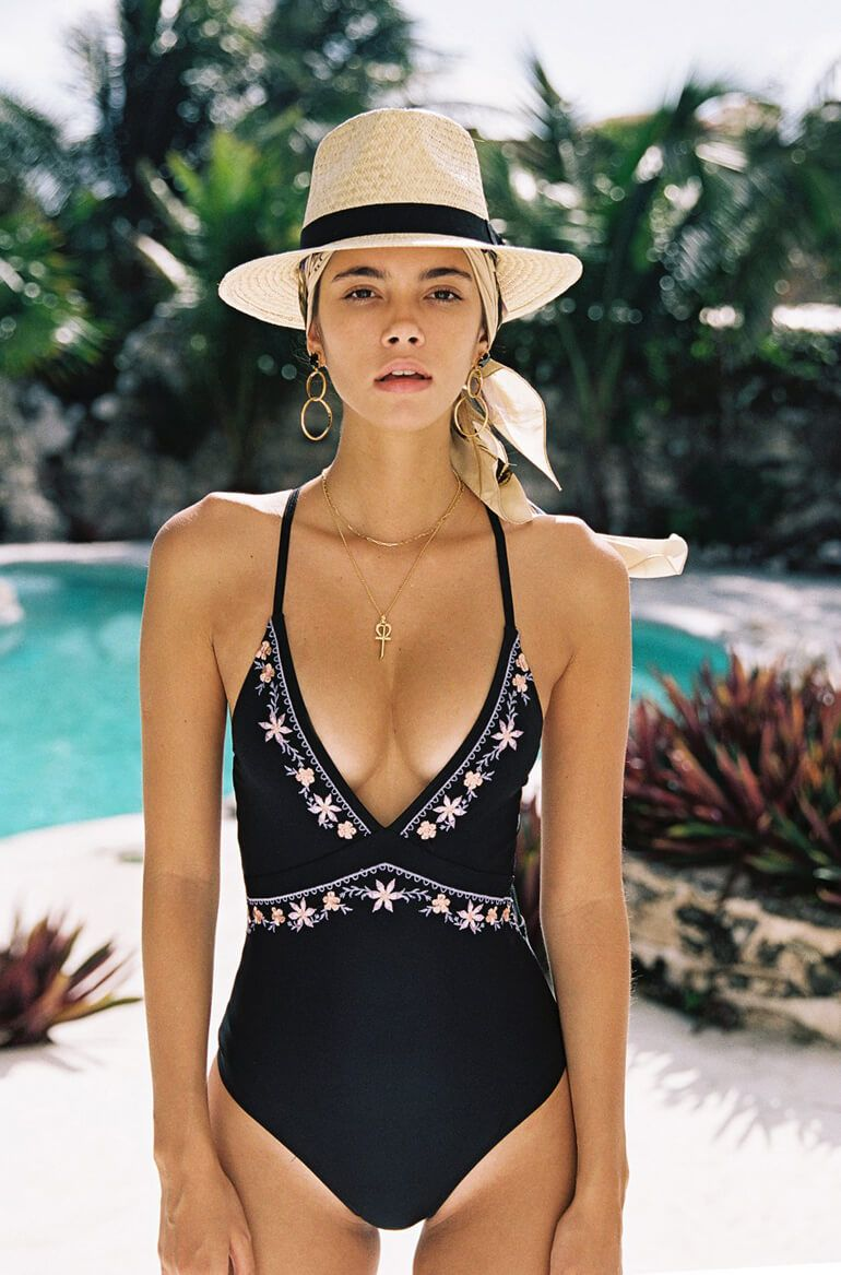 "1c72cd96427411 The ""Elysian"" collection from boho brand Arnhem is swimwear that we just  can t help but fall in love with from one piece suits to bikinis."