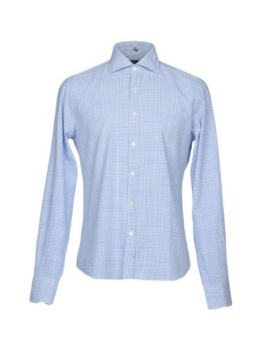FAY Men's Shirt Blue 15 ¾ inches-neck