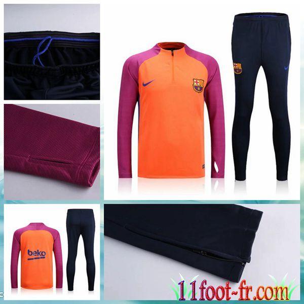 Barca Survetement De Foot 16-17 Homme Orange Pantalon Survetement 23c22af0bee