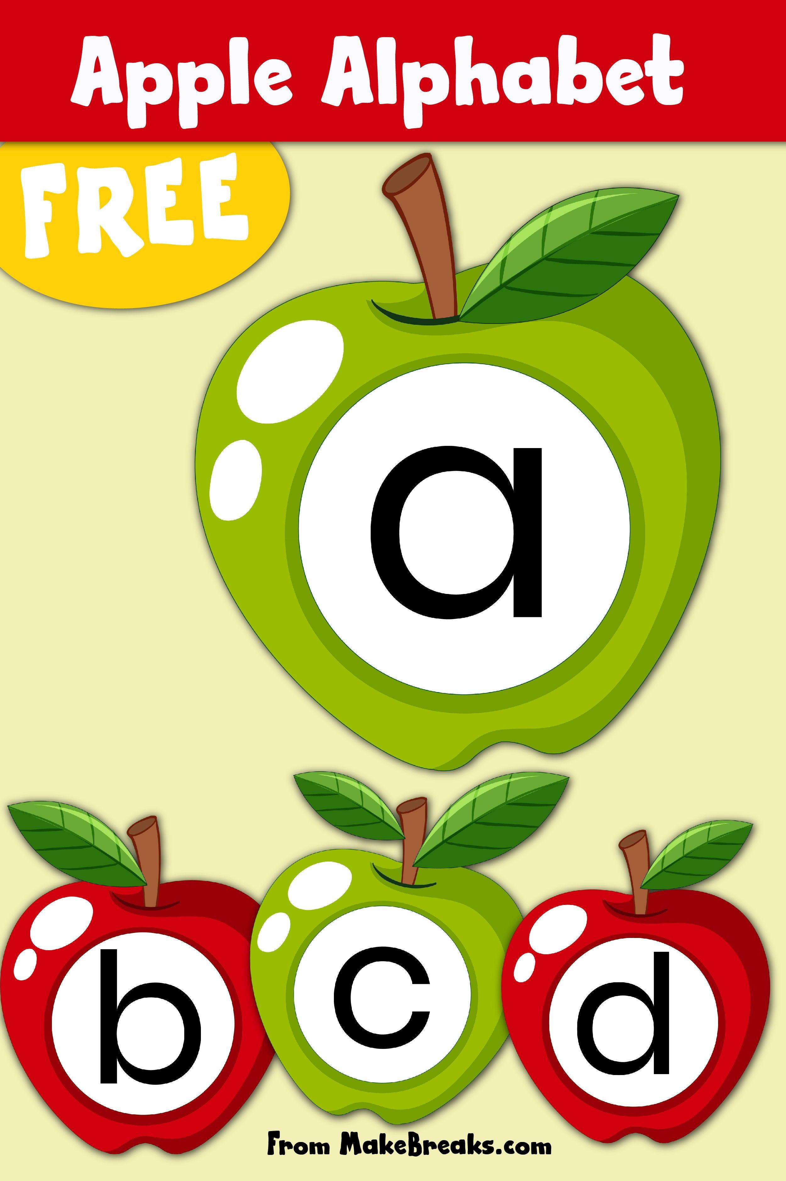 Free Printable Apple Alphabet