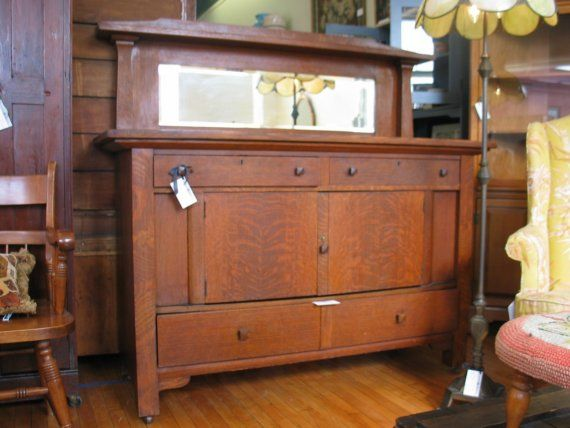 RESERVED For Customer--Antique Mission Arts and Crafts Oak Sideboard ,  Buffet Limbert Stickley Era - RESERVED For Customer--Antique Mission Arts And Crafts Oak