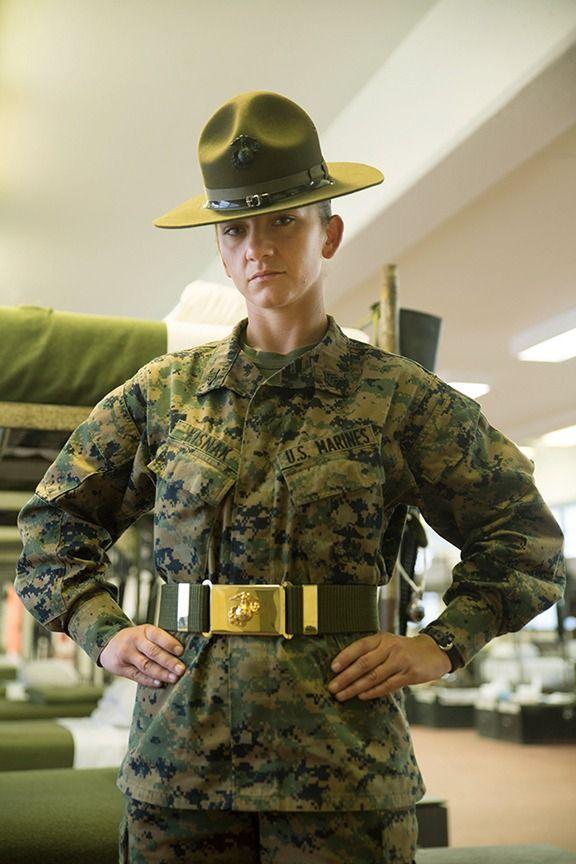 Sgt Ebru Kisnak currently serves as a Marine Corps drill instructor