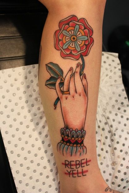 Traditional Hands Holding Flower