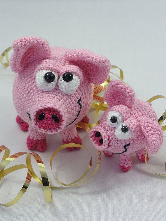 Hamilton und Schnitzel die Schweine .......häkeln | TOYs - Farm ...