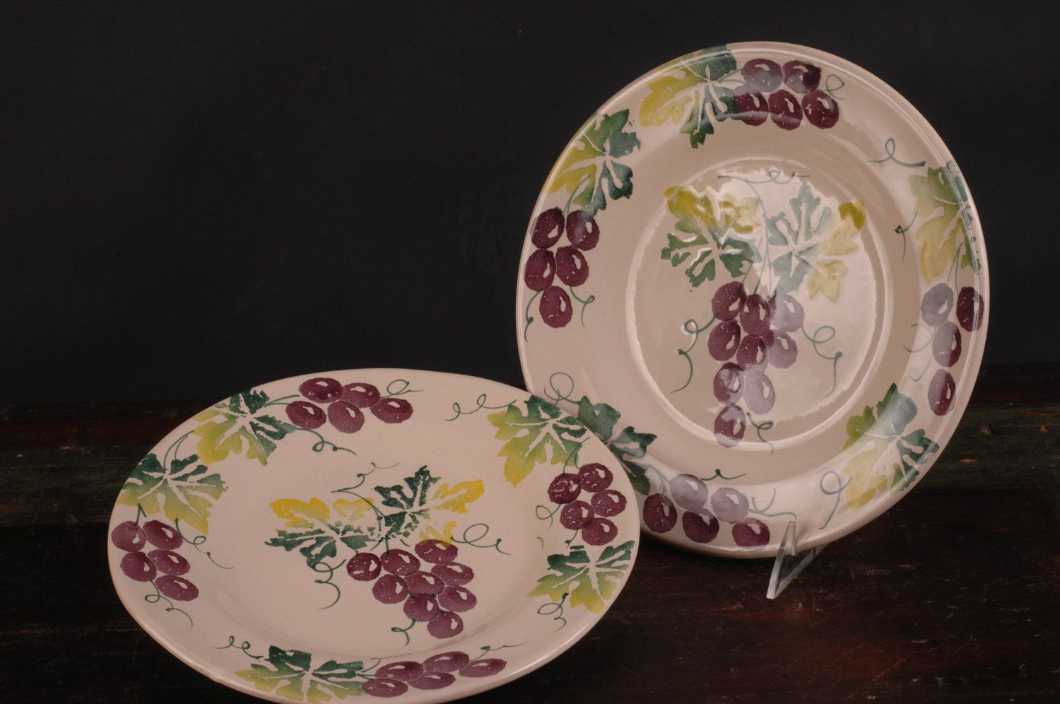 Vintage Grape Plates Made for Smith u0026 Hawkin Italy by dinaandpartners on Etsy & Vintage Grape Plates Made for Smith u0026 Hawkin Italy by ...