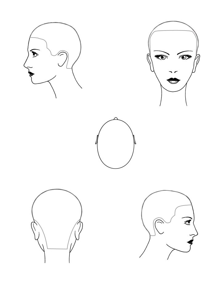 head diagram stencils