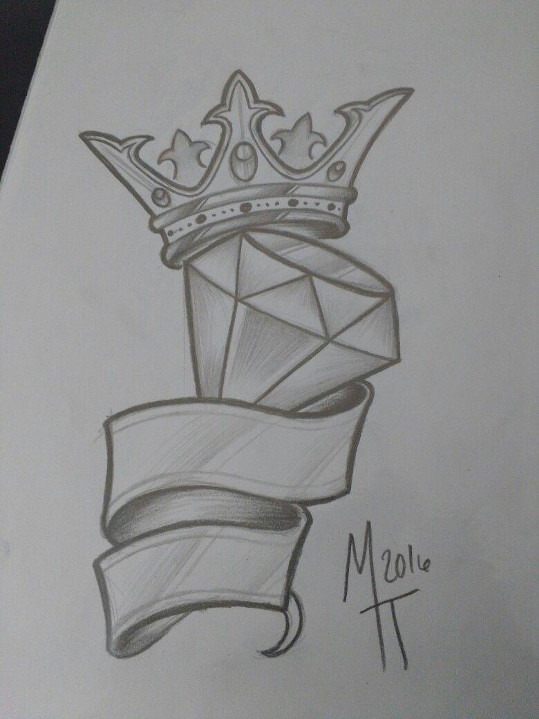 Rei diamante tattoo sketches tattoo drawings cool drawings drawing sketches crown tattoo