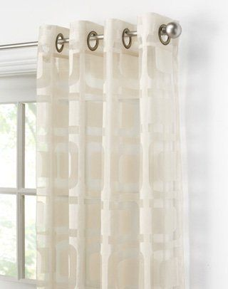 Othello Modern Geometric Curtain Panel By Curtainworks 24 99