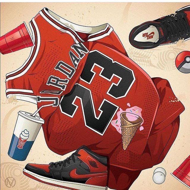 Michael Jordan art Trill art, Michael jordan art
