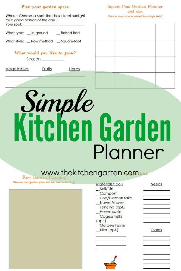 free printable kitchen garden planning guide