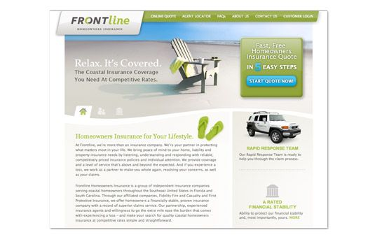 Frontline Homeowners Insurance Website Evokad Homeowners