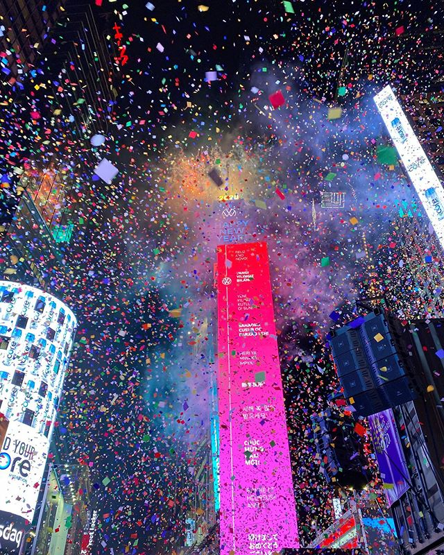 Party Until The Confetti Stops At Times Square On New Year S Eve Newyorkcity New Year S Eve Party Themes New Year S Eve Times Square New York New Years Eve