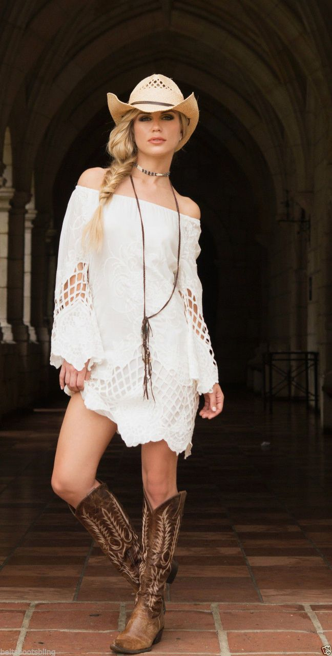 1557a1cb046 14. Union Of Angels White Cynthia Cotton   Lace Cowgirl Dress Gorgeous    Sexy - bootjunky.com