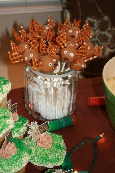 Little Boys Hunting Theme Birthday Cakepops! @Katlyn Lovett Lovett Lovett Lovett Lewis