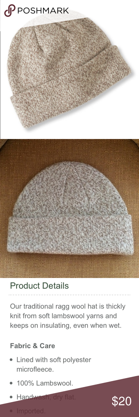 a977c9f59b5 NWOT L.L. Bean Oatmeal Ragg Wool Hat A classic tan lambswool beanie from LL  Bean. 🍁 100% wool