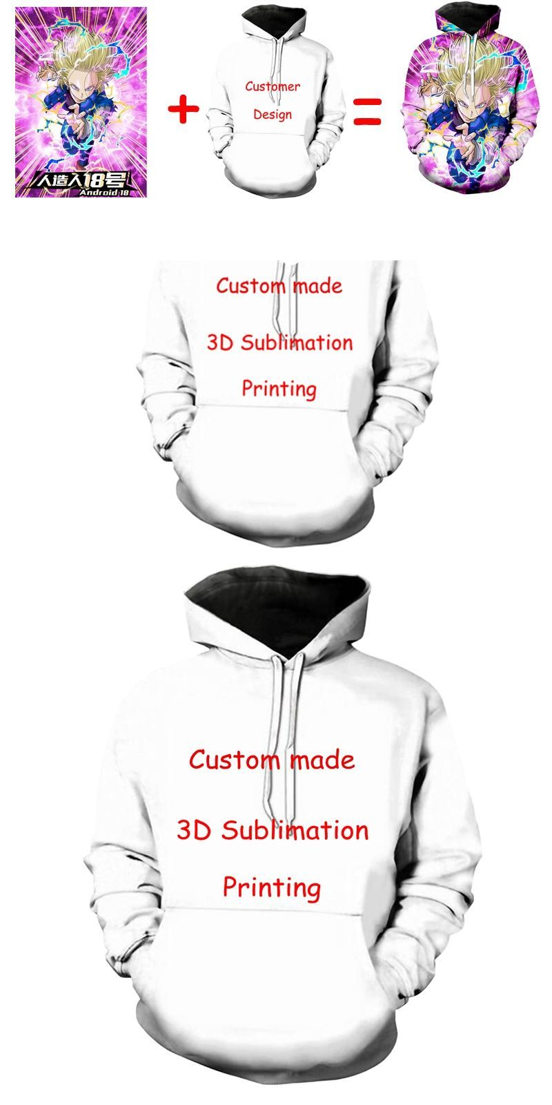 2382a0f1a Newest Create Your Own Customer Design Anime/Photo/Star/You Want/Singer  Pattern/DIY hoody 3D Print Sublimation hoodies #3dprintingdiy